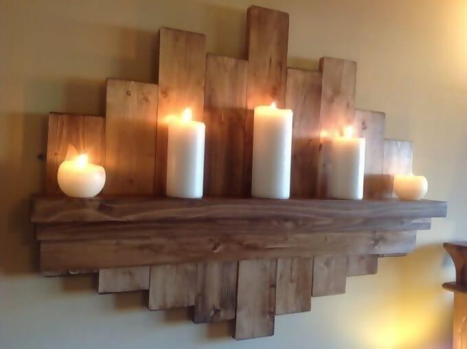 Elegant and understated log shelves