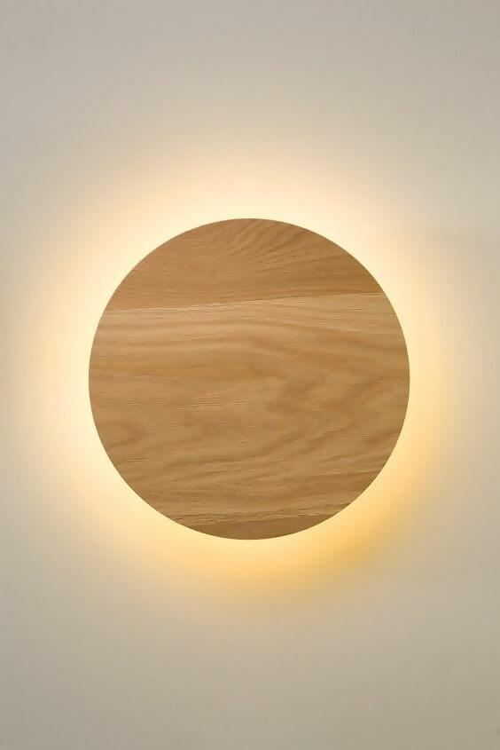 Ring wood lamp
