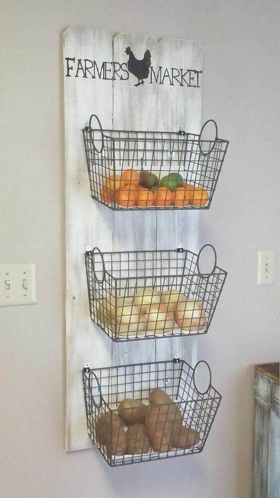 Three-tier basket